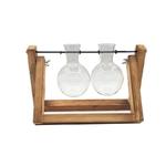 Terrarium-cr-atif-hydroponique-plante-Vase-Transparent-cadre-en-bois-vase-decoratio-verre-table-plante-bonsa