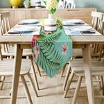 chemin-de-table-fleur-hibiscus-anniversaire-jungle