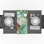 chemin-de-table-fleur-hibiscus-anniversair-nature