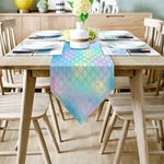 chemin-de-table-sirene-multicolore-anniversaire-enfant