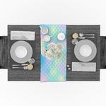 chemin-de-table-sirene-multicolore-anniversaire-fille