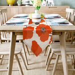 chemin-de-table-fleur-de-pavot-anniversaire-champetre-orange