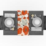 chemin-de-table-fleur-de-pavot-orange