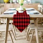 chemin-de-table-carreaux-rouge-et-noir-plaid