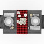 chemin-de-table-carreaux-rouge-et-noir-motifs