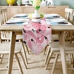 chemin-de-table-flamant-rose-anniversaire