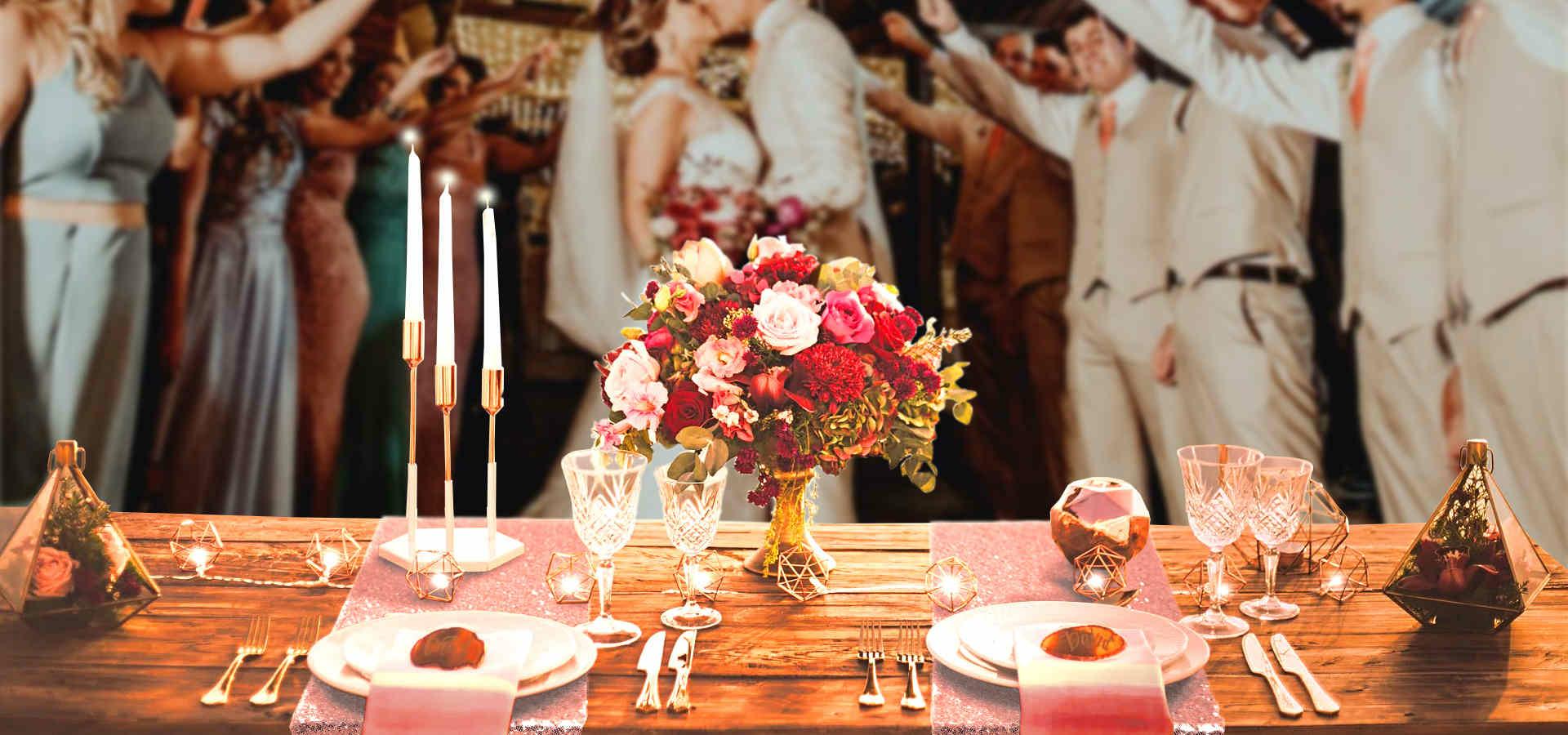 decoration-de-table-mariage-rose-gold