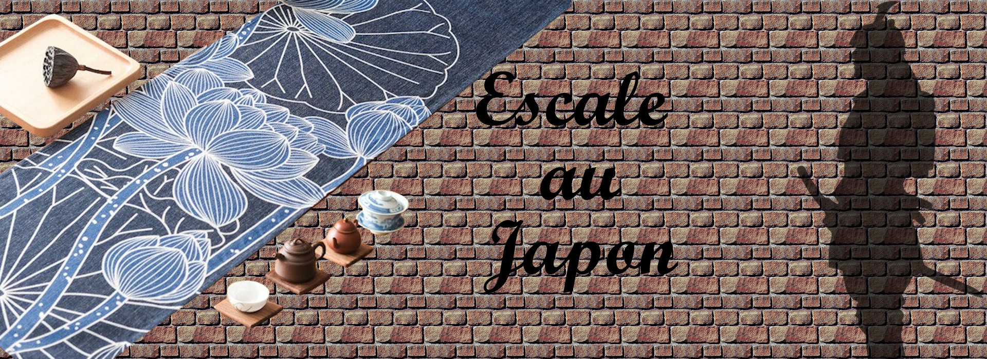 chemin-de-table-japonais-lotus-bleu