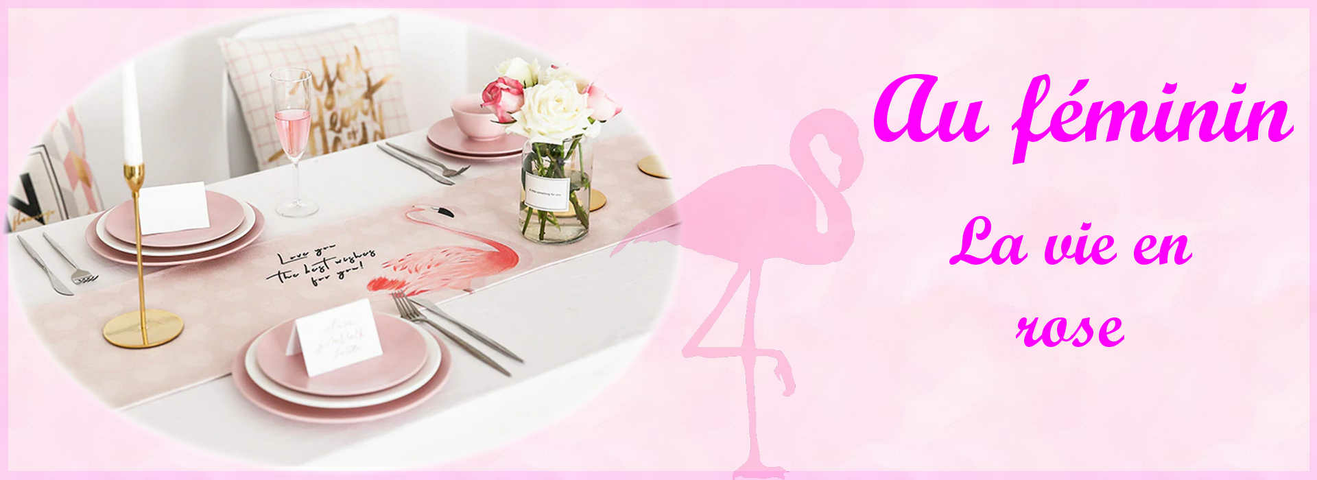 chemin-de-table-flamant-rose