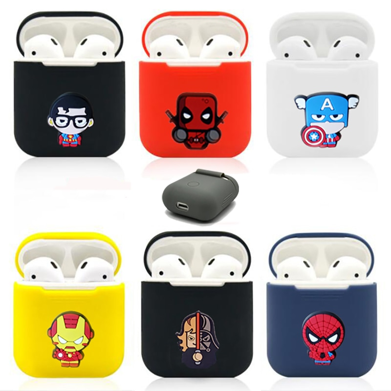 Bande dessinée Marvel coque en silicone Apple Airpods housse de protection