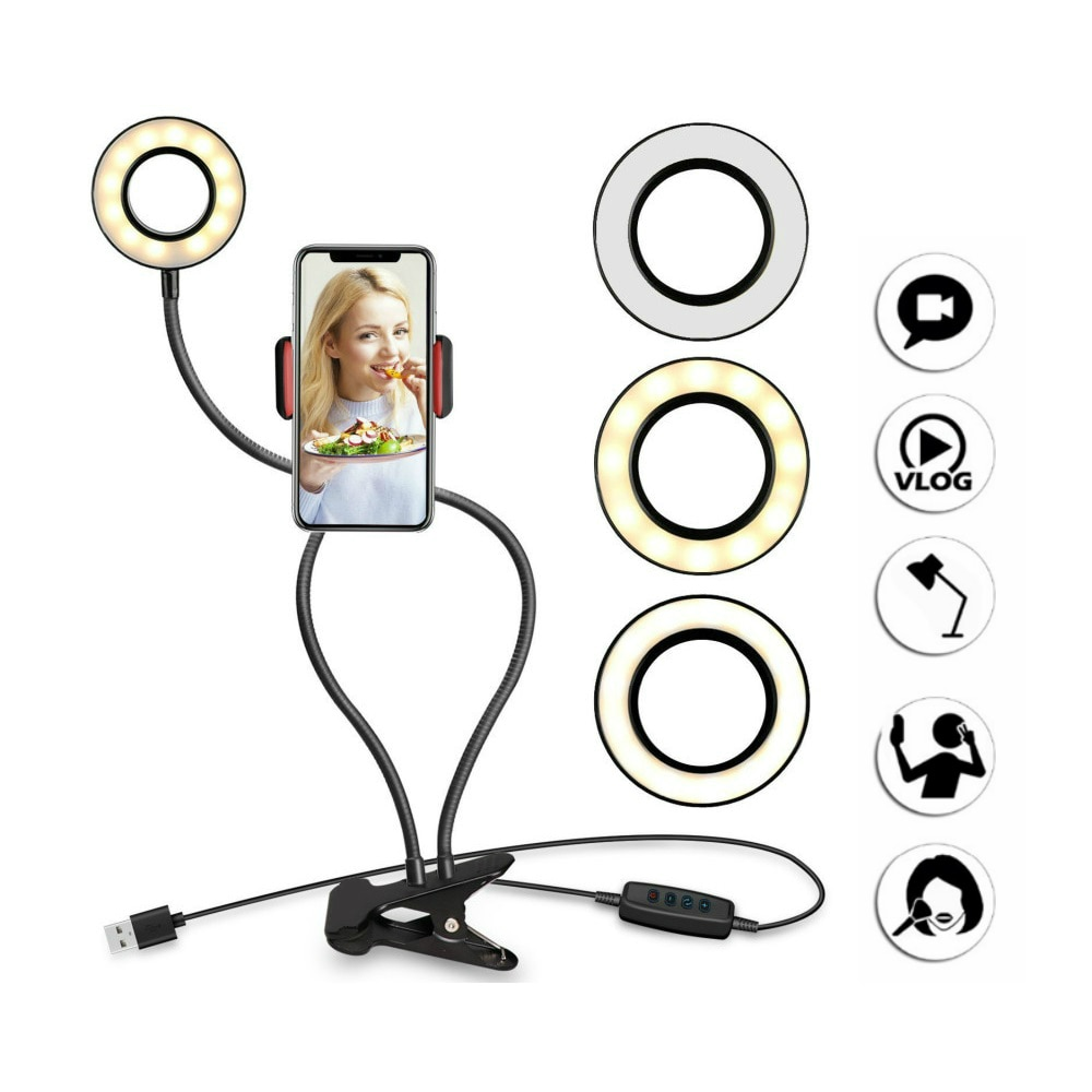 NOHON-support-de-t-l-phone-portable-avec-LED-lumi-re-annulaire-pour-Youtube-flux-en