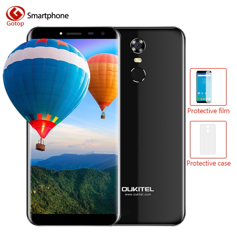 Oukitel C8 MTK6580A Smartphone Quad Core Android 7.0 18:9 Infinity affichage téléphone portable 2 GB RAM 16 GB ROM empreinte digitale