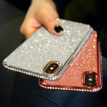 Strass-Glitter-Cas-pour-iphone-XS-MAX-XR-10X7-8-Plus-6-6-s-Doux-Silicone