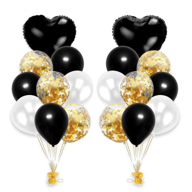 bouquet-ballon-noirs-or
