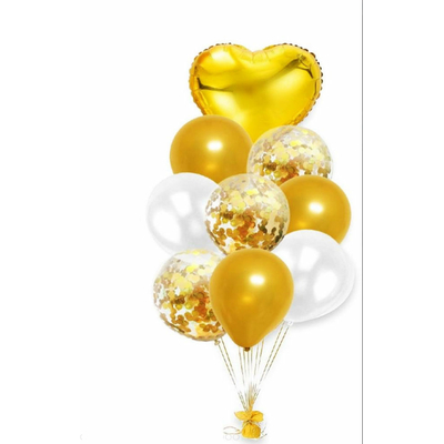 Bouquet de ballons or