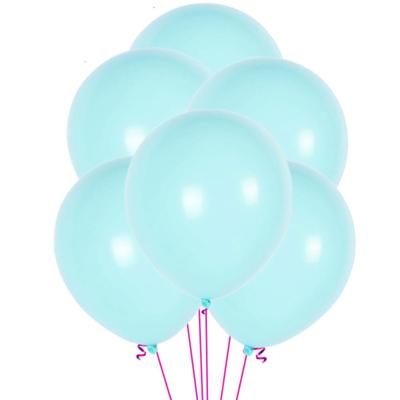 12 ballons latex turquoises