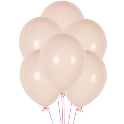 12 ballons latex rose bébé