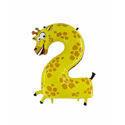 Ballon chiffre 2 girafe