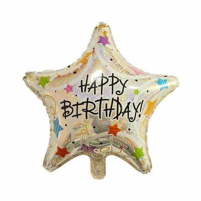 Ballon etoile happy birthday