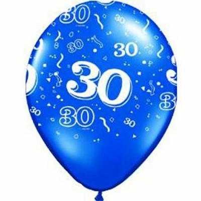 Ballons En Latex Chiffres 30
