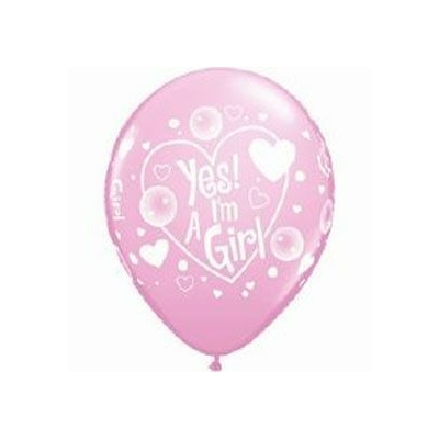 Ballons Roses En Latex Imprimés It'S A Girl