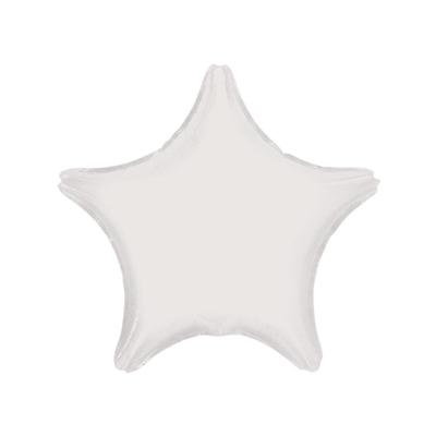 Ballon mylar aluminium étoile blanche