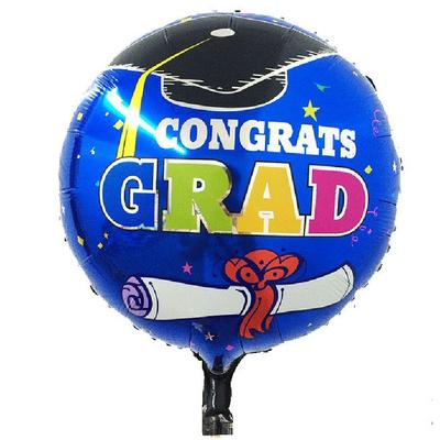 Ballon aluminium remise de diplôme
