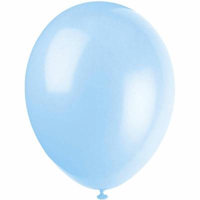 50 ballons latex bleu ciel