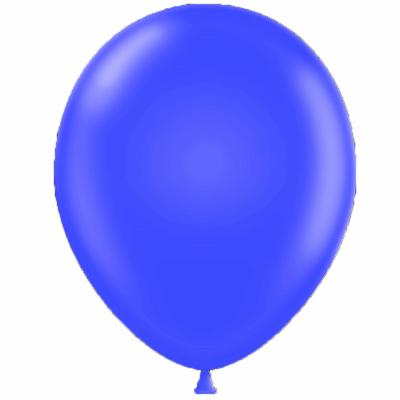 50 ballons latex bleu roy