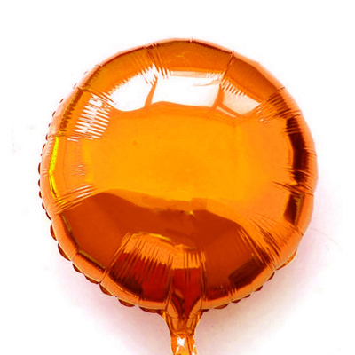 Ballon mylar aluminium rond orange