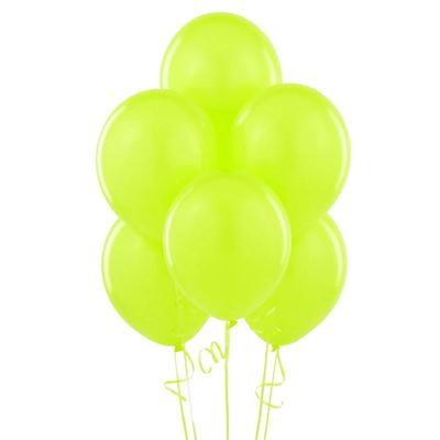 12 ballons latex vert anis