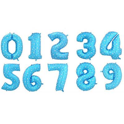 Ballon chiffre bleu 40 cm