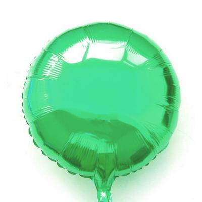 Ballon mylar aluminium rond vert bresil
