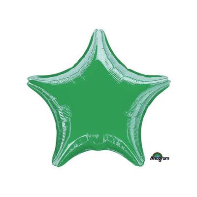 Ballon mylar aluminium etoile verte