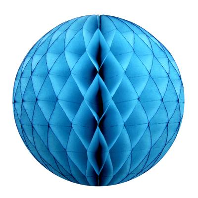 Boule Papier Alvéolé 25 Cm turquoise
