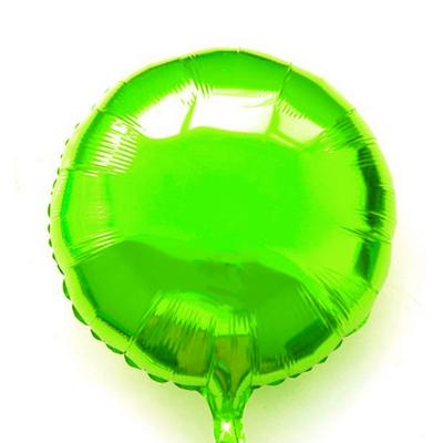 Ballon mylar aluminium rond vert anis