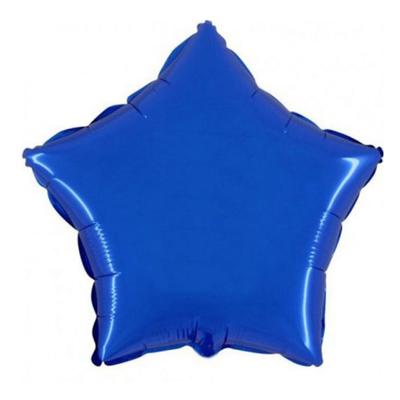 Ballon mylar aluminium étoile bleu roy