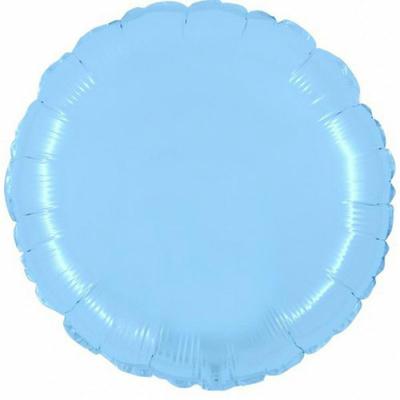 Ballon mylar aluminium rond bleu ciel