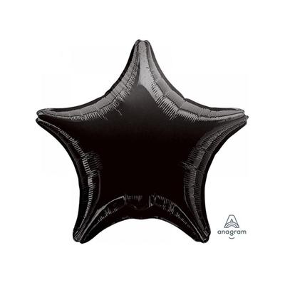 Ballon mylar aluminium ètoile noire