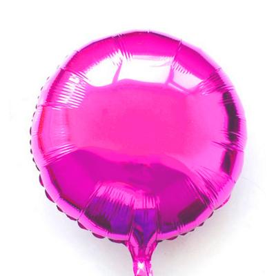 Ballon mylar aluminium rond fuchsia