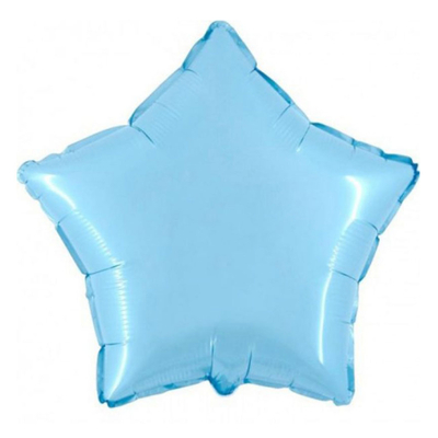 Ballon mylar aluminium etoile bleue ciel