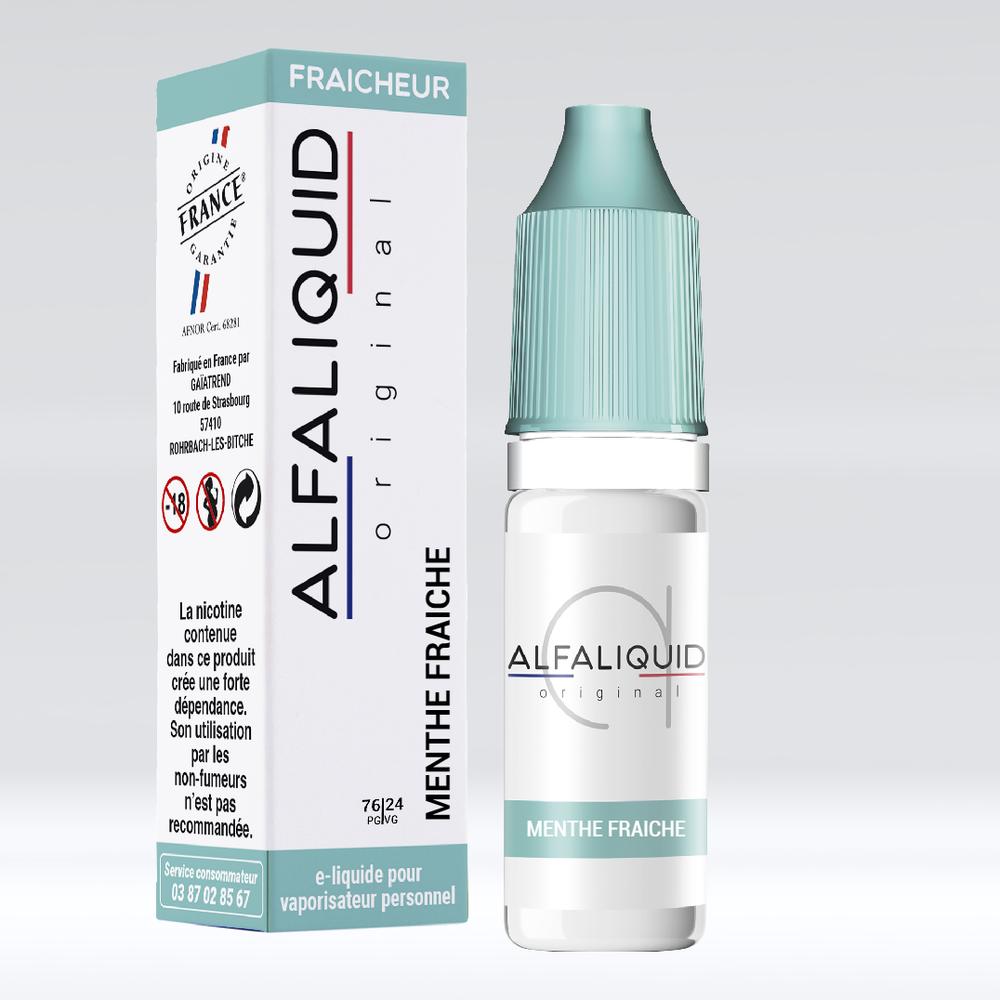 E-liquide Alfaliquid Menthe Fraîche - Saveurs Fraîcheur