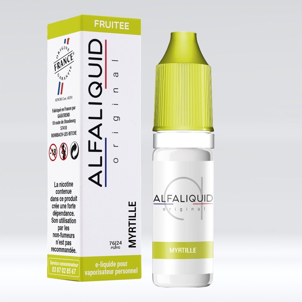 E-liquide Alfaliquid Myrtille - Saveurs Fruitée