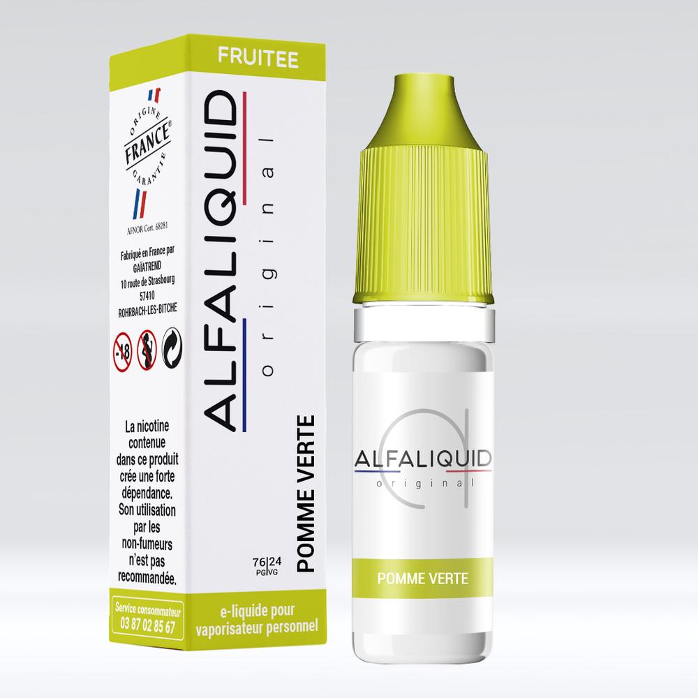 E-liquide Alfaliquid Pomme Verte - Saveurs Fruitée