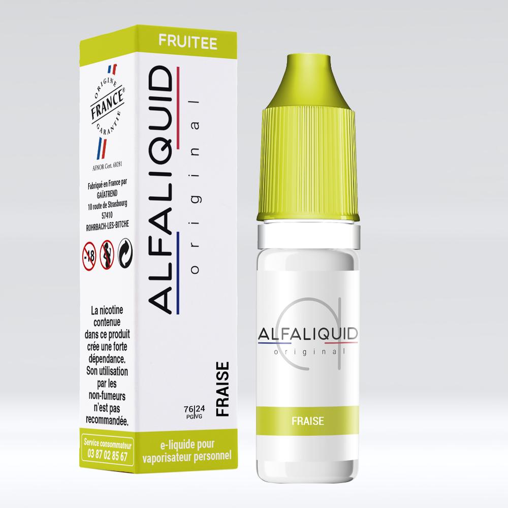 E-liquide Alfaliquid Fraise - Saveurs Fruitée