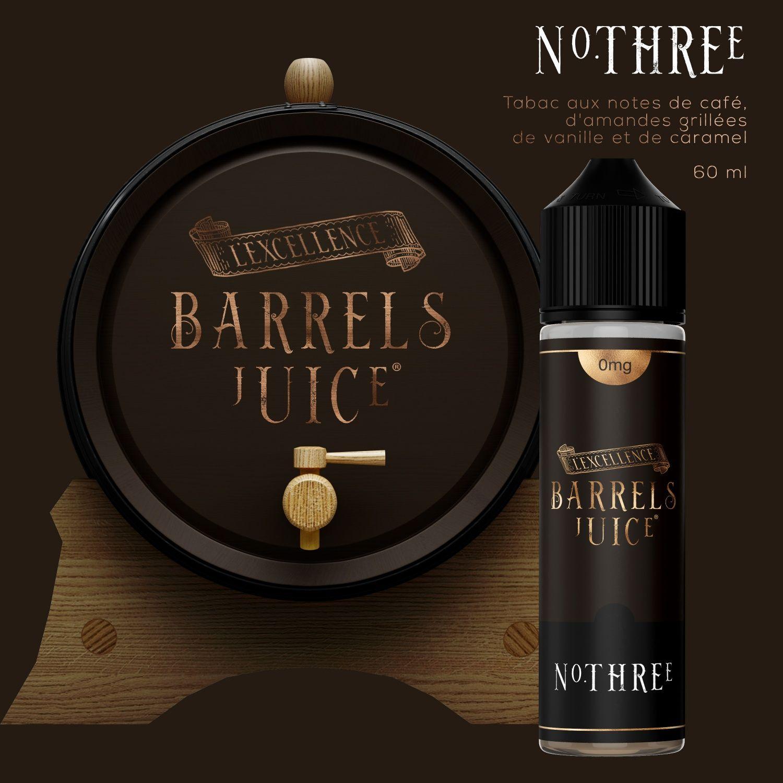 E-liquide-Tabac-three-60-Ml-Barrels Juice - Jo-al-nice
