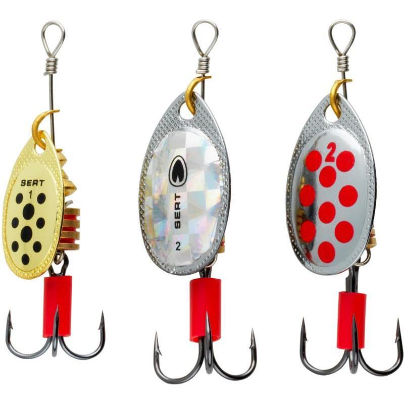 Kit de 3 cuillères de pêche de la perche SERT SPOONY PERCHE