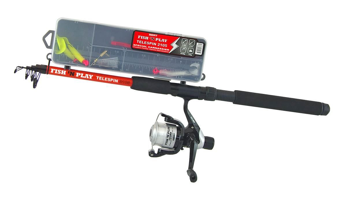 Kit fish\'n play SERT telespin 2105 + 201RD + box