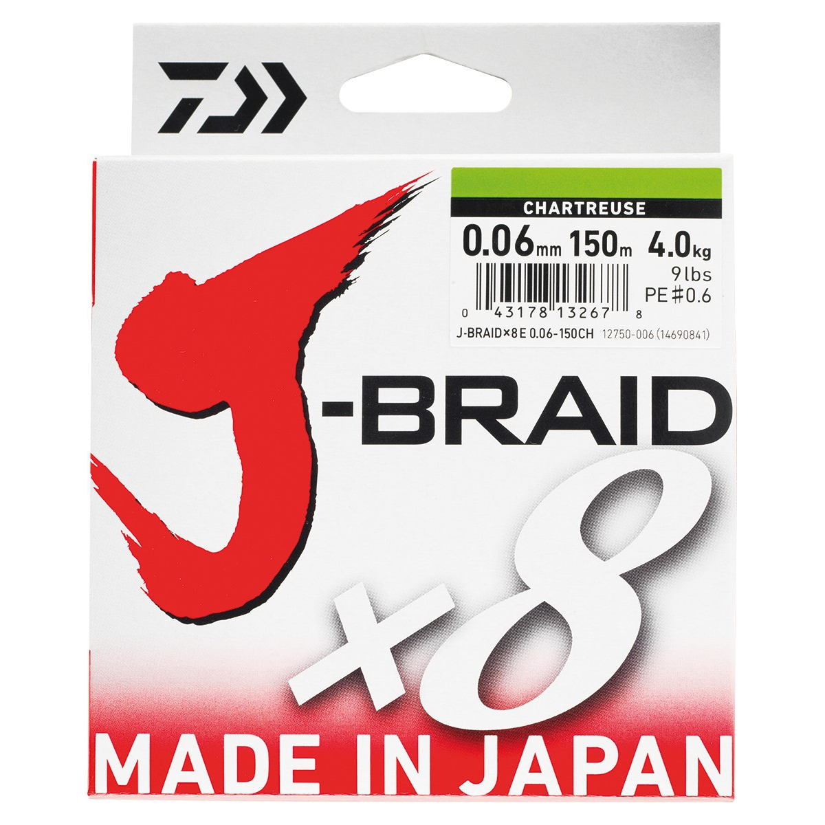 Tresse 8 brins DAIWA J-BRAID x8 150m