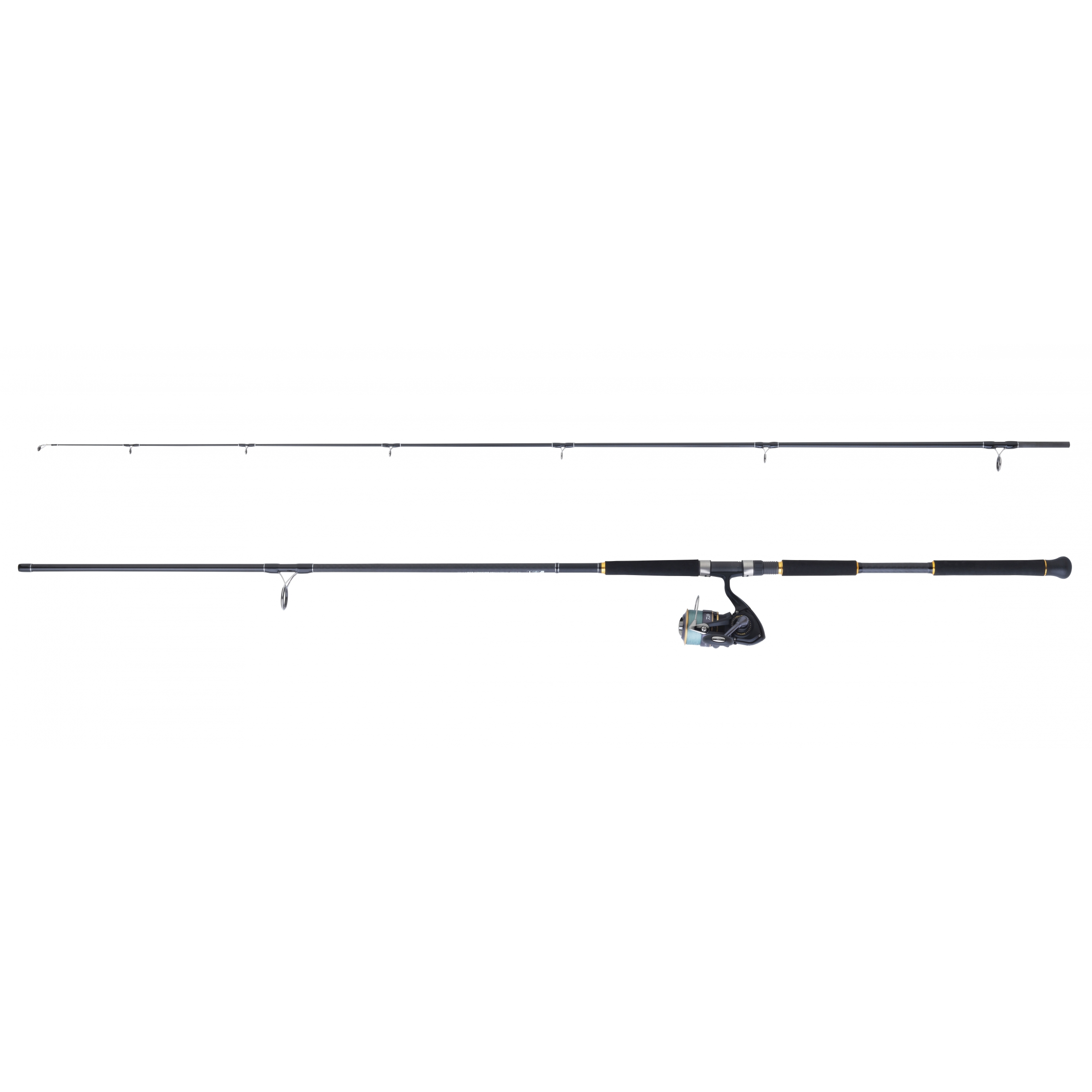 Ensemble lancer spinning DAIWA LEGALIS SHORE JIGGING + REGAL PE TSUKI + tresse 4 brins